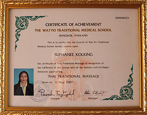 Zertifiktate Thai-Massage